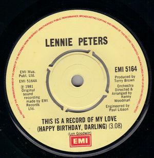 Lennie Peters - Let The Tears Begin