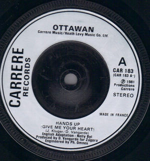 "Ottawan-Hands Up (give Me Your Heart)-Carrere-7"" Single ..."